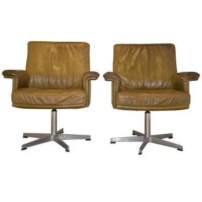 Set of 2 DS 35 arm chairs from the sixties by De Sede Design Team for De Sede