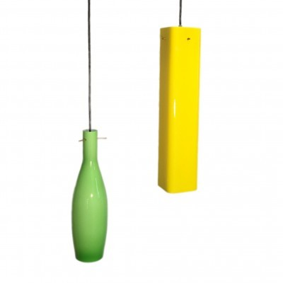 2 hanging lamps from the fifties by unknown designer for Vistosi