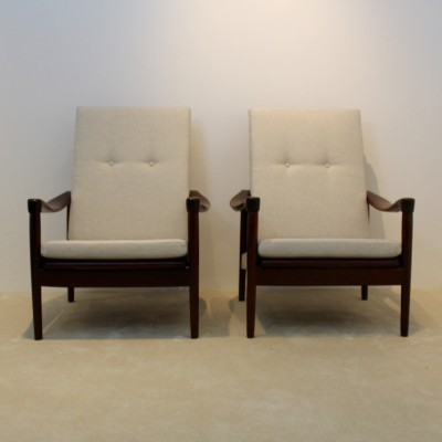 2 lounge chairs from the sixties by unknown designer for Gelderland