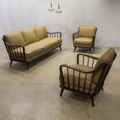 sofa from the fifties by unknown designer for knoll antimott 64592. Black Bedroom Furniture Sets. Home Design Ideas