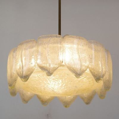 Flush hanging lamp from the sixties by unknown designer for Doria Leuchten