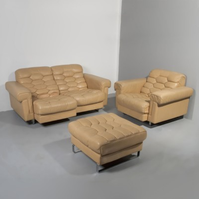 DS-P seating group from the sixties by Robert Haussmann for De Sede