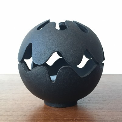 Cast Iron Tealight Burner Candleholder from the sixties by Christel Holmgren & Christer Holmgren for Illums Bolighus