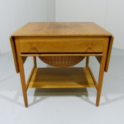 Sewing Table AT-33 side table by Hans Wegner for Andreas Tuck, 1950s