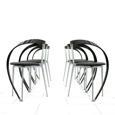 Set of 6 Revers dinner chairs by Andrea Branzi for Cassina, 1990s