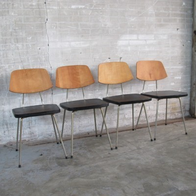 Set of 4 dining chairs by Rudolf Wolf for Elsrijk, 1960s