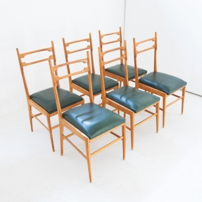 Set of 6 dinner chairs from the fifties by unknown designer for unknown producer