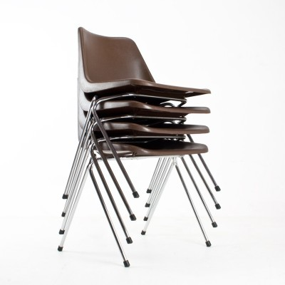 10 x Polyprop dining chair by Robin Day for Hille, 1960s