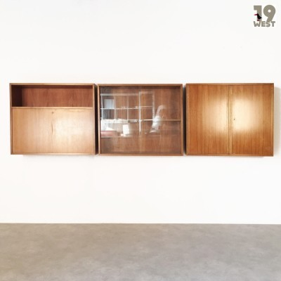 Set of 3 wall units from the fifties by Georg Satink for WK Möbel