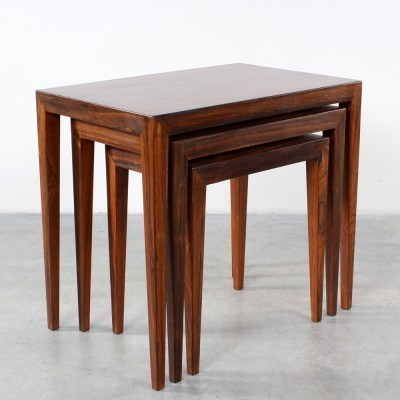 Nesting table by Severin Hansen for Haslev Møbelsnedkeri, 1960s