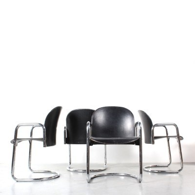 Set of 4 Dialogo dining chairs by Afra Scarpa & Tobia Scarpa for B & B Italia, 1970s