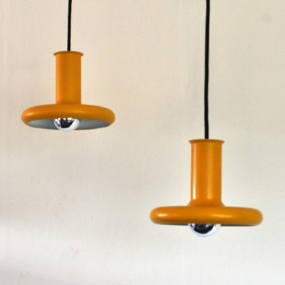 Set of 2 Optima hanging lamps from the seventies by Hans Due for Fog & Mørup