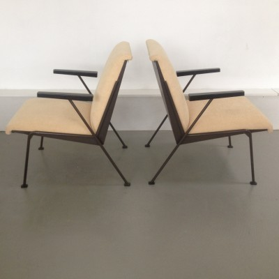 Set of 2 Oase arm chairs from the fifties by Wim Rietveld for Ahrend de Cirkel