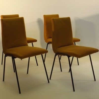 Set of 4 Robin dinner chairs from the sixties by Pierre Guariche for Meurop