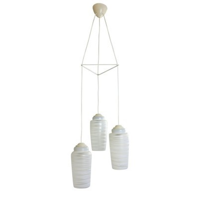 Tri cone pendant hanging light by Philips, 1960s
