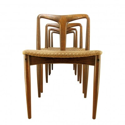 4 Juliane dinner chairs from the sixties by Johannes Andersen for Uldum Møbelfabrik