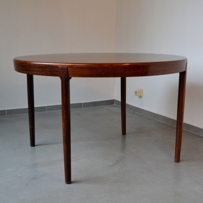 Extendable / Round To Oval Dining Table by Harry Østergaard for Randers Mobelfabric Denmark