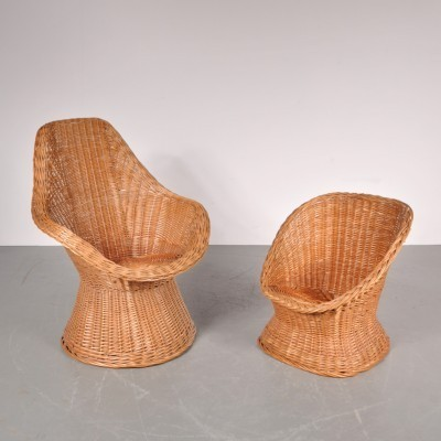 Pair of lounge chairs by Dirk van Sliedregt for Gebroeders Jonkers, 1960s