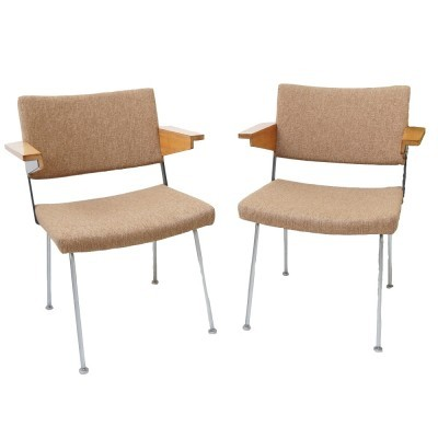 2 Nr 11 arm chairs from the sixties by André Cordemeyer for Gispen