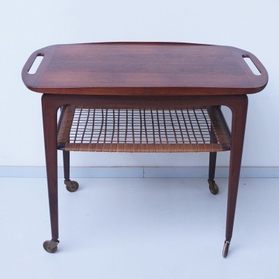 Serving trolley from the fifties by Johannes Andersen for Silkeborg Denmark
