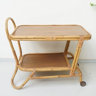 Serving trolley from the fifties by unknown designer for Rohé Noordwolde