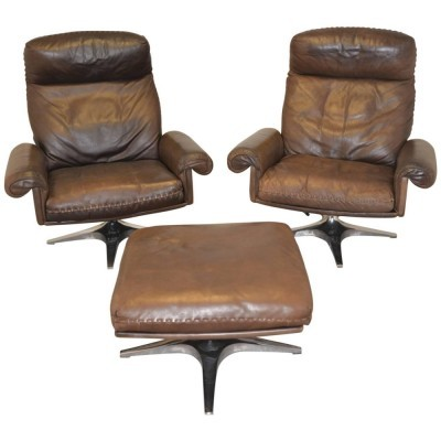 Set of 2 DS 31 Highback arm chairs from the seventies by De Sede Design Team for De Sede