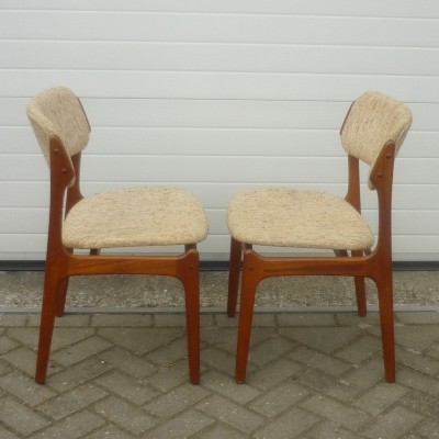 Pair of dining chairs by Erik Buch for O. D. Møbler, 1960s