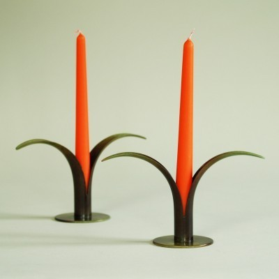 Lily candle holder from the thirties by Ivar Ålenius Björk for Ystad Metall