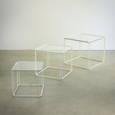 Set of 3 Isocèle nesting tables by Max Sauze for Atrow, 1960s