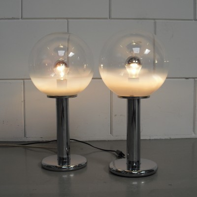 2 desk lamps from the sixties by unknown designer for Targetti Sankey