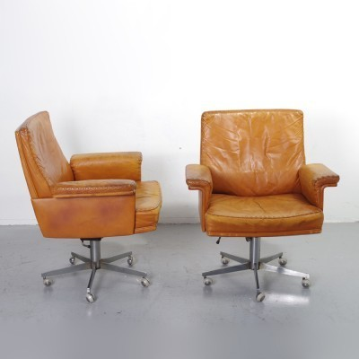 2 DS31 office chairs from the fifties by unknown designer for De Sede