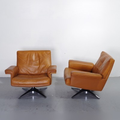 2 DS31 Lowback lounge chairs from the fifties by unknown designer for De Sede