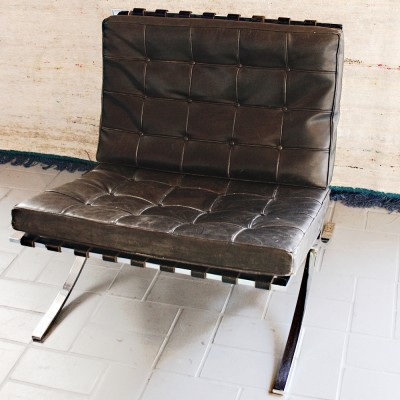 Barcelona lounge chair from the sixties by Ludwig Mies van der Rohe for Knoll