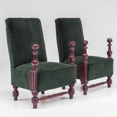 Pair of De Coene lounge chairs, 1920s