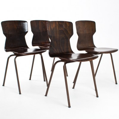 4 x Eromes dining chair, 1970s