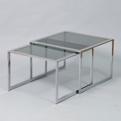 Nesting table from the sixties by Romeo Rega for unknown producer