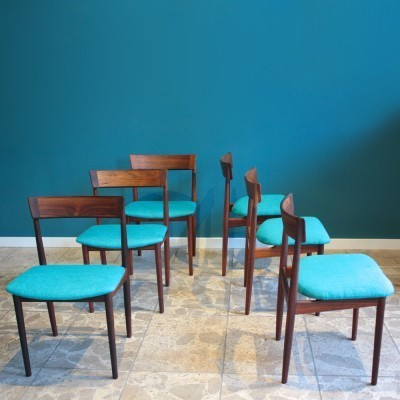 Set of 6 Model 39 dinner chairs from the sixties by Henry Rosengren for Brande Møbelfabrik