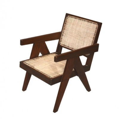 2 x Administrative Buildings In Chandigarh arm chair by Pierre Jeanneret, 1950s