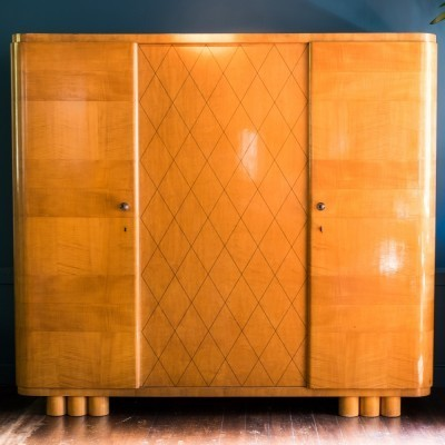 Wardrobe cabinet from the forties by unknown designer for De Coene