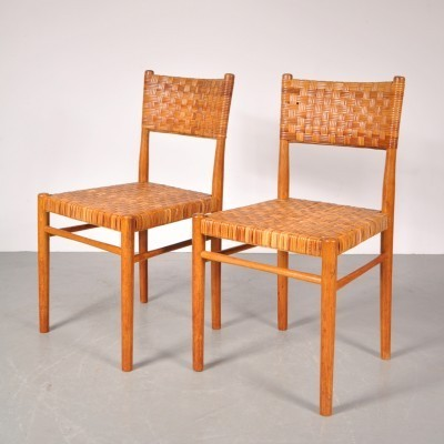 2 dinner chairs from the fifties by Theo Arts for Rohé Noordwolde