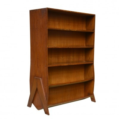 The Central State Library In Chandigar Bookcase cabinet by Pierre Jeanneret, 1950s