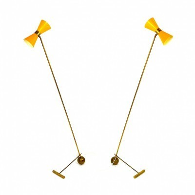 2 floor lamps from the fifties by unknown designer for Stilnovo