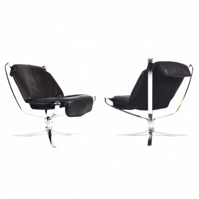 2 Falcon lounge chairs from the seventies by Sigurd Ressell for Vatne Møbler