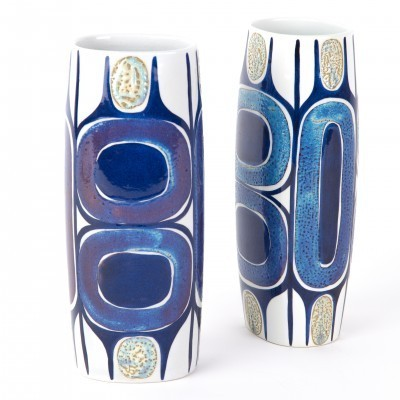 Set of 2 450/3116 vases from the sixties by Inge Lise Koefoed for Royal Copenhagen