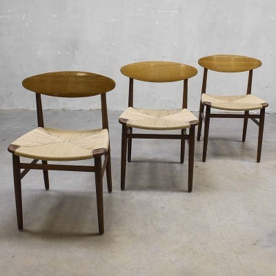 3 x dining chair by Børge Mogensen for Soborg Mobler, 1950s