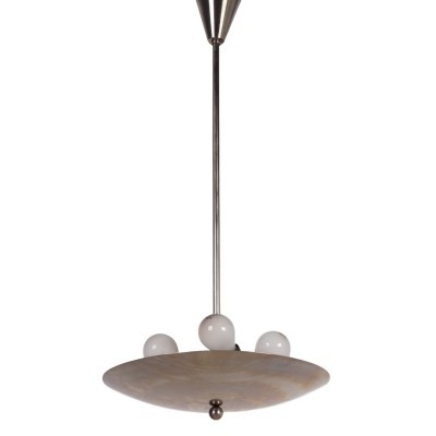 No: 64/2057/2077 hanging lamp by W. Gispen for Gispen, 1930s