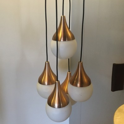 Cascade hanging lamp from the sixties by unknown designer for unknown producer