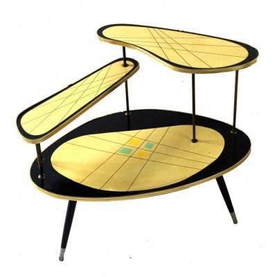 Flower side table from the fifties by unknown designer for unknown producer