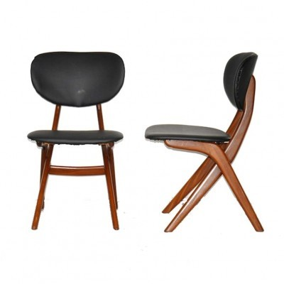 4 dinner chairs from the fifties by Louis van Teeffelen for Wébé
