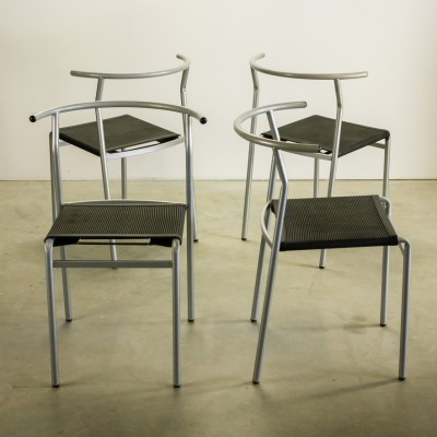 Set of 4 Cafe dining chairs by Philippe Starck for Baleri Italia, 1980s